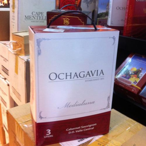 Rượu vang bịch Chile Ochagavia 3 lít