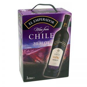 Vang Chile El Emperador Merlot Bich 3l