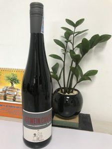 Rượu Vang đức Rotwein Trocken 2017 Qc